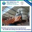 Ladle turret for steel melting plant